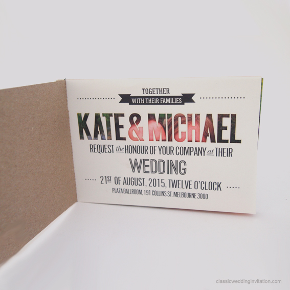 Unique Booklet Style Wedding Invitations