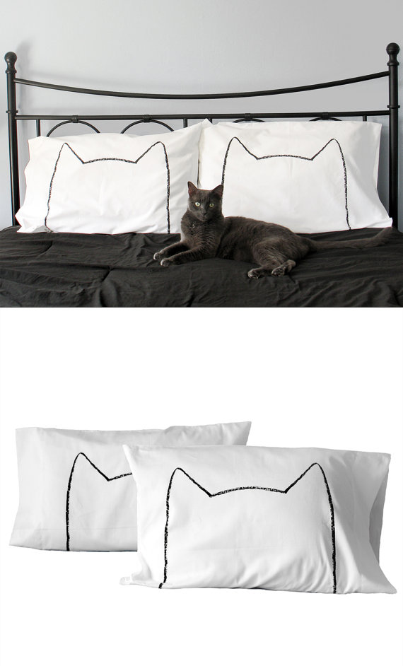 cat nap pillowcases by Xenotees
