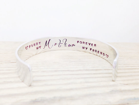 first my mother forever my friend cuff bracelet | unique gifts for mom