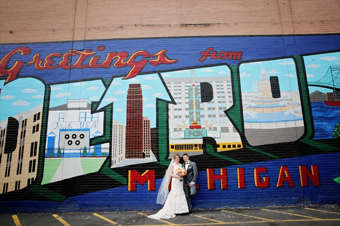 greetings_from_detroit_wedding Downtown Detroit Wedding - http://emmalinebride.com/real-weddings/a-beautiful-downtown-detroit-wedding-nick-jeannine/ | Michigan wedding photographer - The Camera Chick