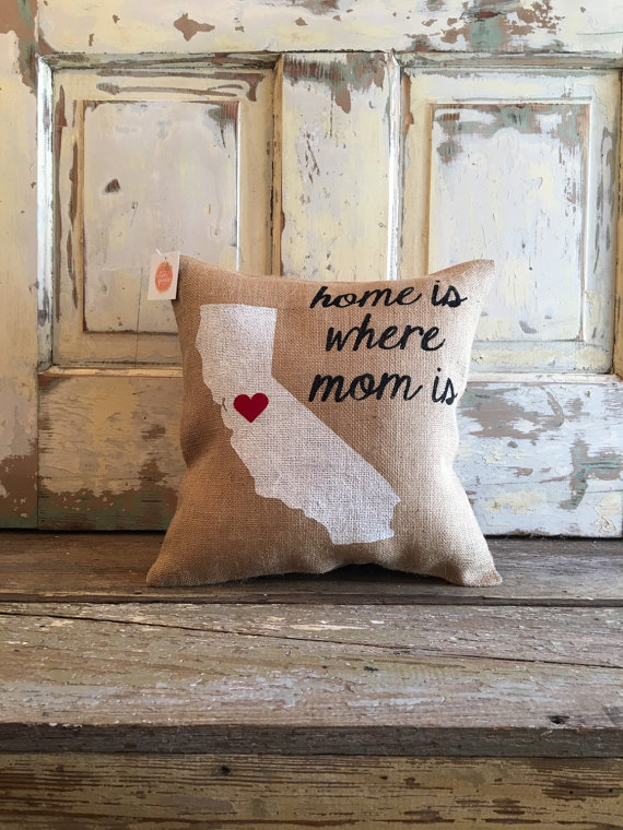 home mom pillow by TwoPeachesDesign