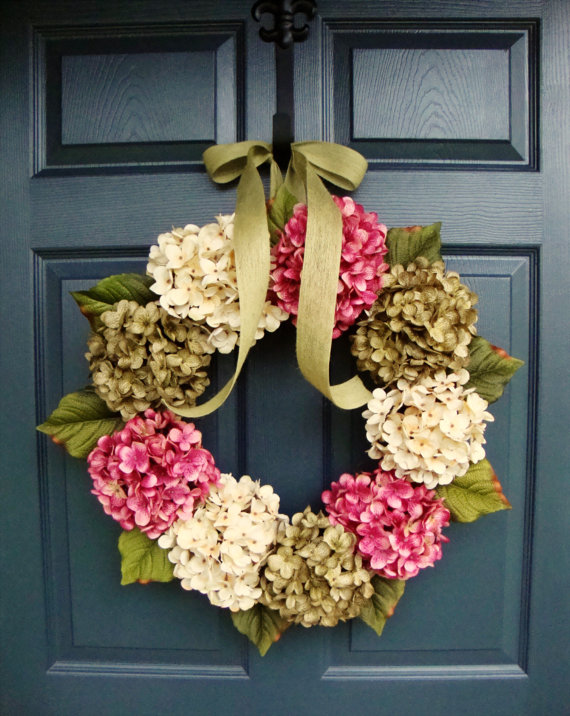 homemade wreath by HomeHearthGarden