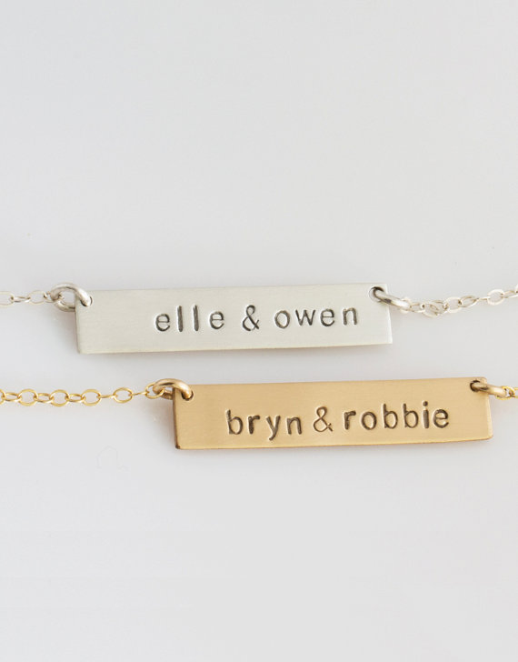 mothers day handstamped necklace by LEILAjewelryshop | unique gifts for mom