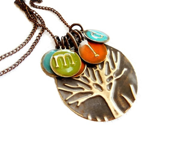 mothers day tree necklace initials by susananna | unique gifts for mom
