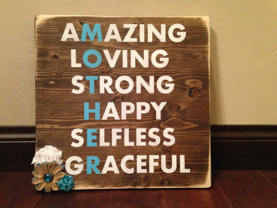 mothers day wood sign by TheSimpleSparrowDLB | unique gifts for mom