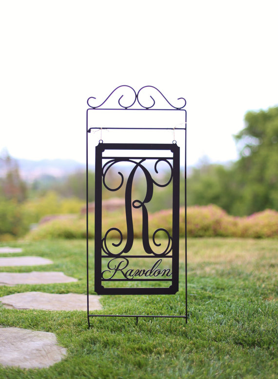 personalized garden sign by braggingbags | unique gifts for mom
