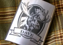 personalized moose flask