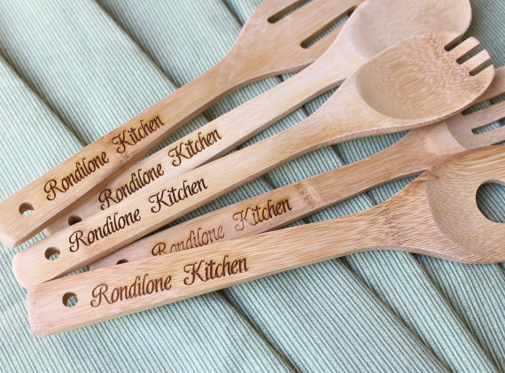 personalzied kitchen wooden utensils by ScissorMill | unique gifts for mom