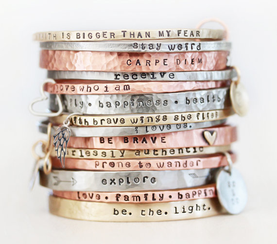 stacking bracelets by amywaltz | unique gifts for mom