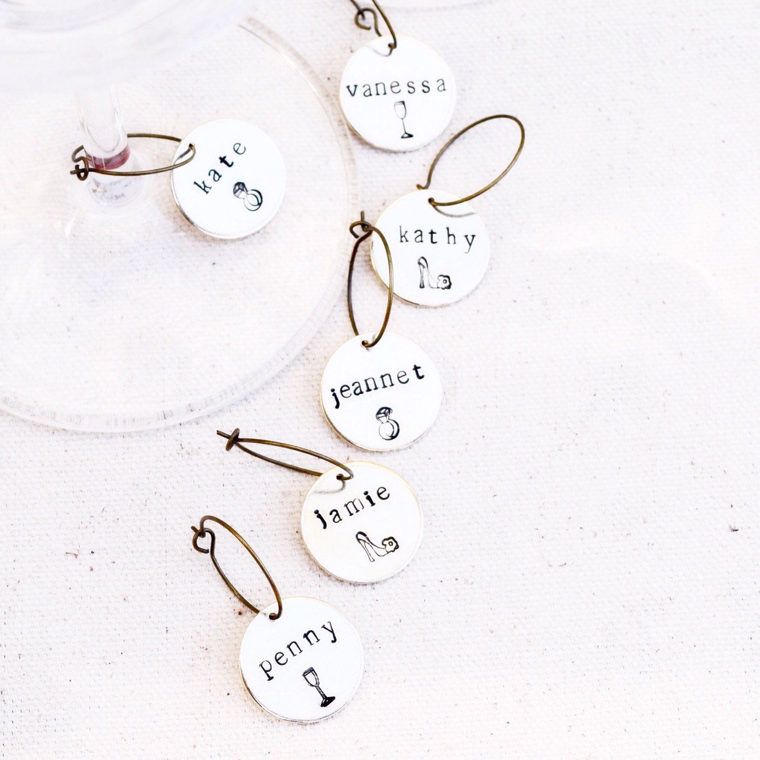 bachelorette wine charm favors | wine charms favors http://emmalinebride.com/favors/wine-charms-favors
