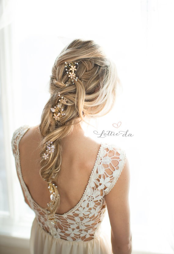 Braid With Bridal Accessory 50 Best Bridal Hairstyles Without Veil