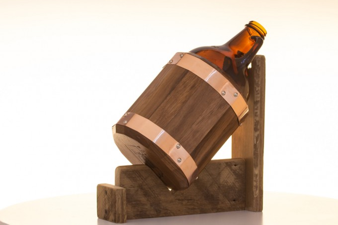 dark walnut | the growler girdle - groomsmen gift for beer lovers