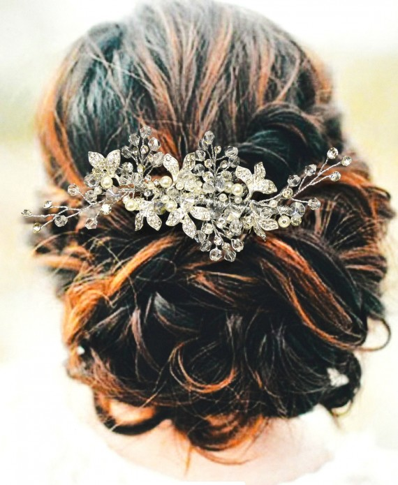hair comb by ella winston | 50+ Best Bridal Hairstyles Without Veil | http://emmalinebride.com/bride/best-bridal-hairstyles