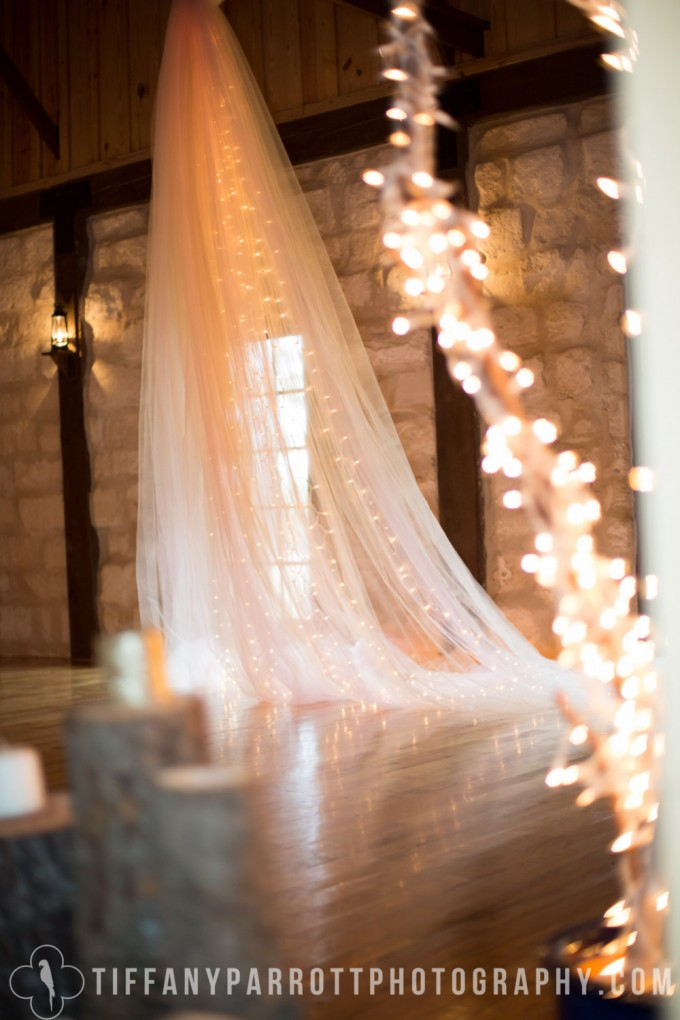 lighted tulle backdrop