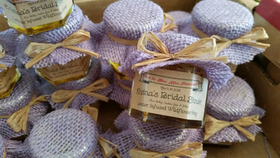bridal shower honey jar favors