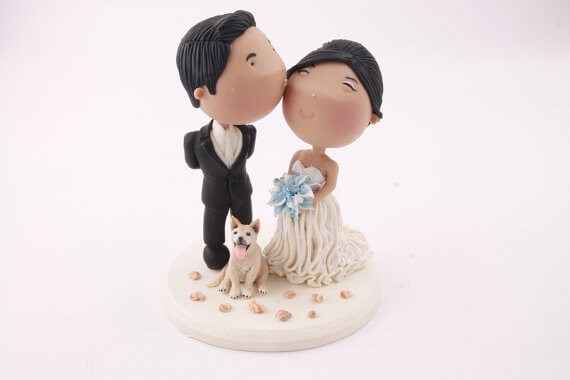 figurine wedding cake toppers custom gown