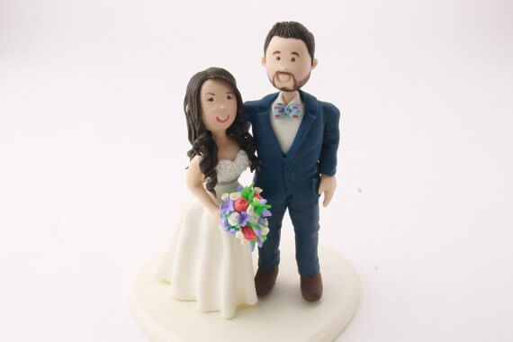 figurine cake topper groom with facial hair
