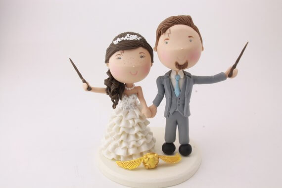 figurine wedding cake toppers harry potter wedding