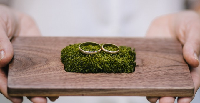 ring bearer pillow alternative moss