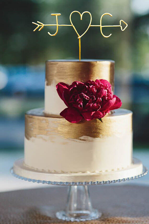 Wedding Rings Cake Topper 88 Awesome