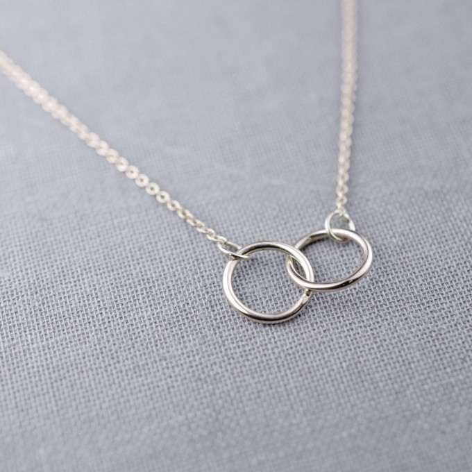 two interlocking rings necklace by lilyemme jewelry