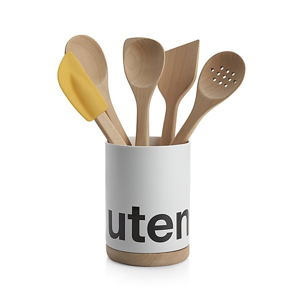 utensils crock | 9 Things I Wish Had Registered For | http://emmalinebride.com/planning/9-things-wish-had-registered-for/