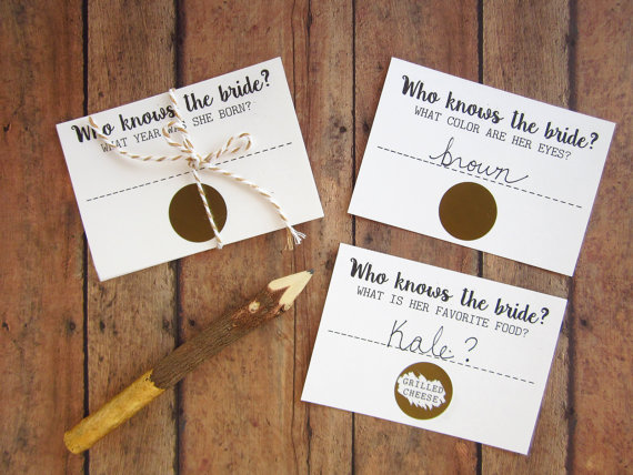who knows the bride scratch off bridal shower game