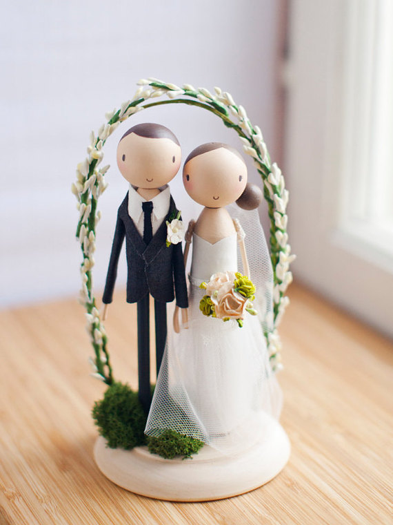 bride groom couple cake topper