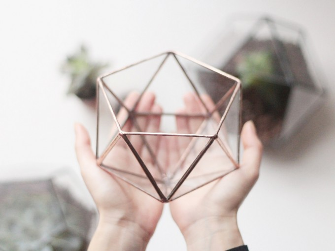 geometric planter by waen