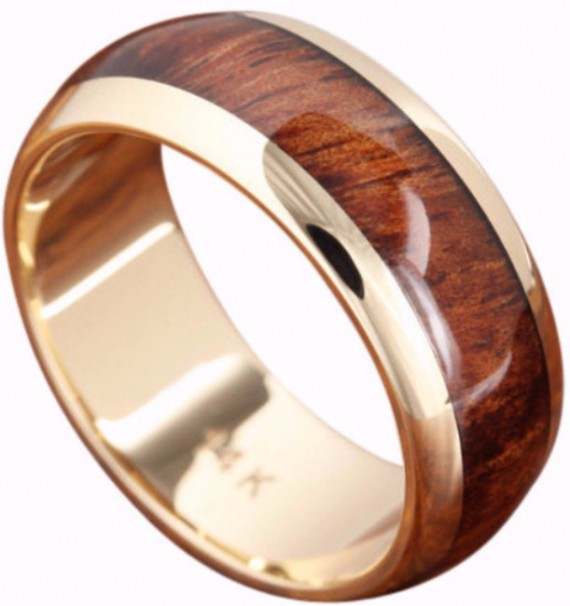 natural wood inlay wedding ring | Wood Rings Groom Picks | Northern Royal | http://emmalinebride.com/groom/wood-rings-groom/