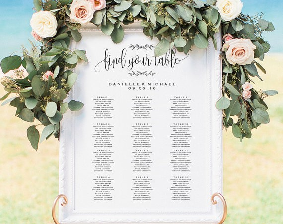 seating chart by bliss paper boutique via 26 Things Guests Love at Weddings from A to Z | http://emmalinebride.com/planning/things-guests-love-at-weddings/ ‎
