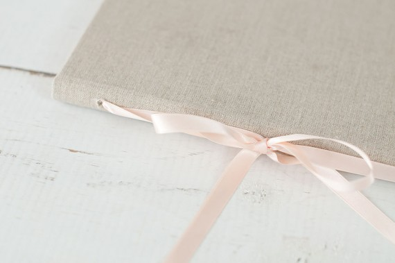This beautiful wedding vow book will become a keepsake for years to come. By Claire Magnolia. | http://emmalinebride.com/ceremony/wedding-vow-book-handmade/