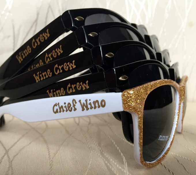 wine bachelorette party sunglasses