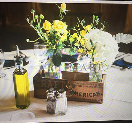 wood box centerpiece by DelaRayWoodWork image two