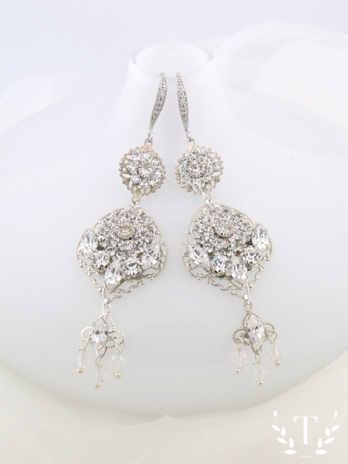 Swarovski Chandelier Earrings for the Bride | By Tigerlilly Couture | http://etsy.me/2ddYtFi