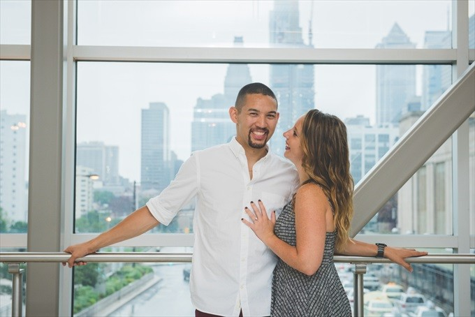 Wow! - Abby + Andrew's Philadelphia Engagement Session (Real Weddings) | http://www.emmalinebride.com/real-weddings/wow-abby-andrews-philadelphia-engagement-session/| Photo: BG Productions Photography & Videography