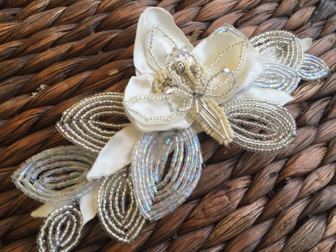 Beaded bridal hairpiece by Empire of the Bead via http://emmalinebride.com/wedding/beaded-bridal-hairpiece/