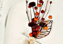 dried flower boutonniere for fall