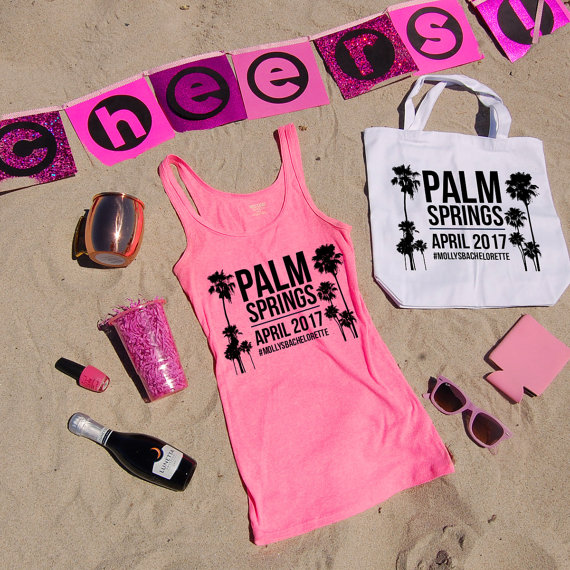 de72c80f < Hot Pink Palm Tree Tank Top by Jackie Pearl Designs | via Palm Tree Bachelorette  Party