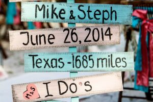 turquoise-wooden-wedding-directional-signs