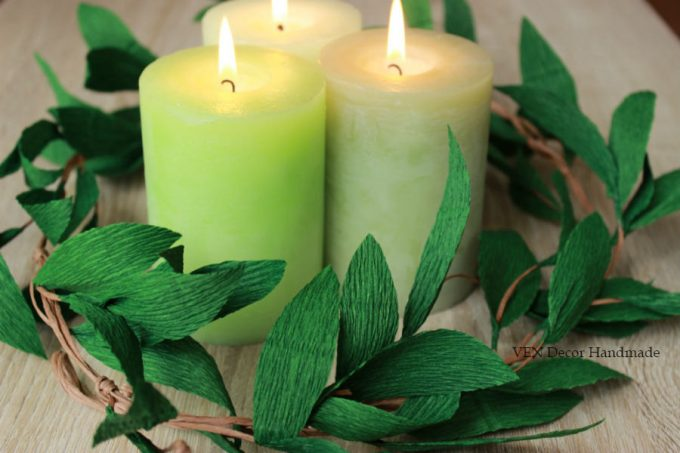 Candle Centerpiece Idea -- Handmade-a-Day