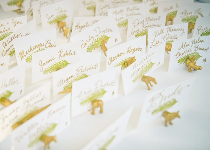Animal Magnet Escort Card and Favor - 100 Ways to Save Money on Your Wedding