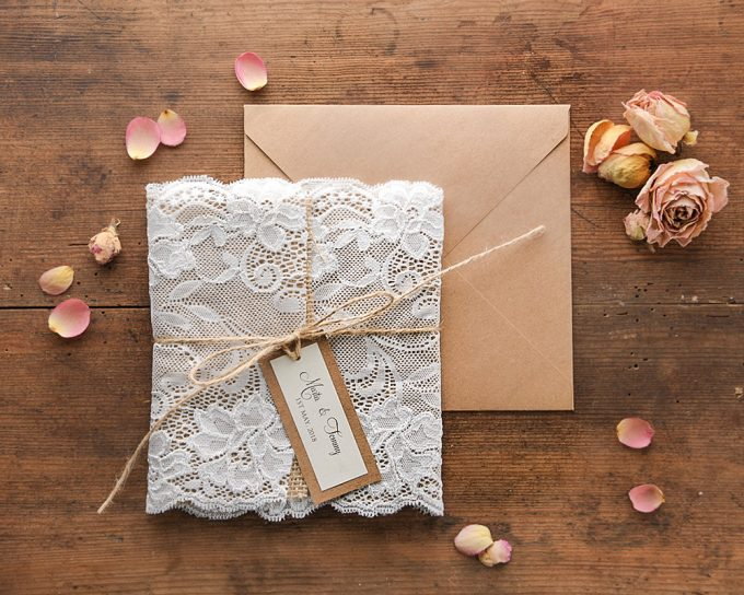 Lace Invitations Etsy