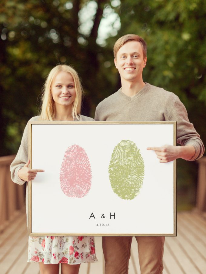 Thumbprint Guest Book is Totally Brilliant | by Flutterbye Prints | http://emmalinebride.com/wedding/thumbprint-guest-book