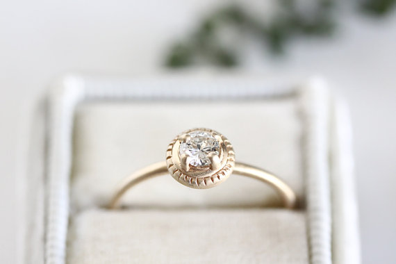 100 best non traditional engagement rings via httpemmalinebridecom - Non Diamond Wedding Rings