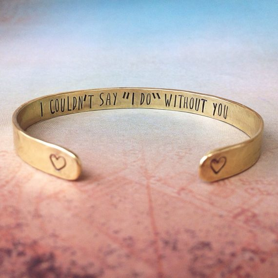 I couldnt say i do without you bracelet by Red Fern Studio