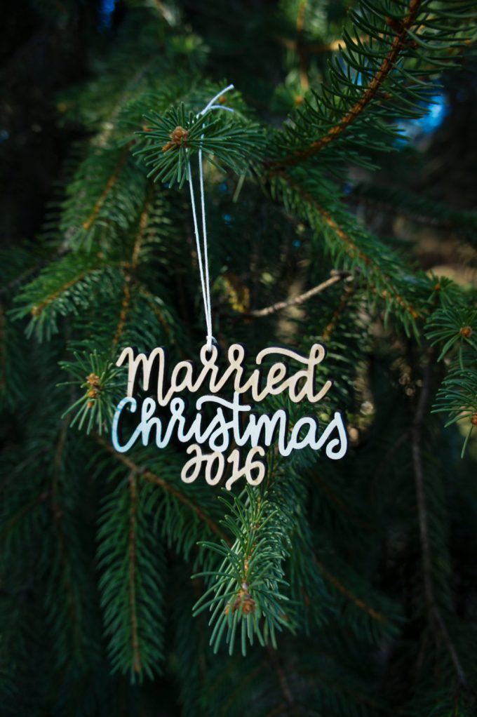 Married Christmas Ornament by Ready Go Wedding Co.