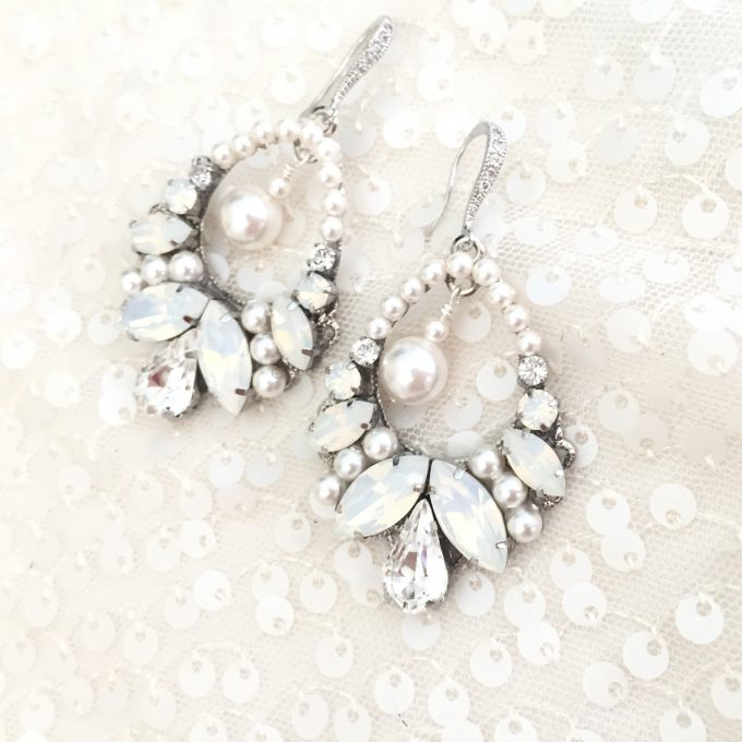 Rhinestone Statement Earrings by Ali Christine Bridal