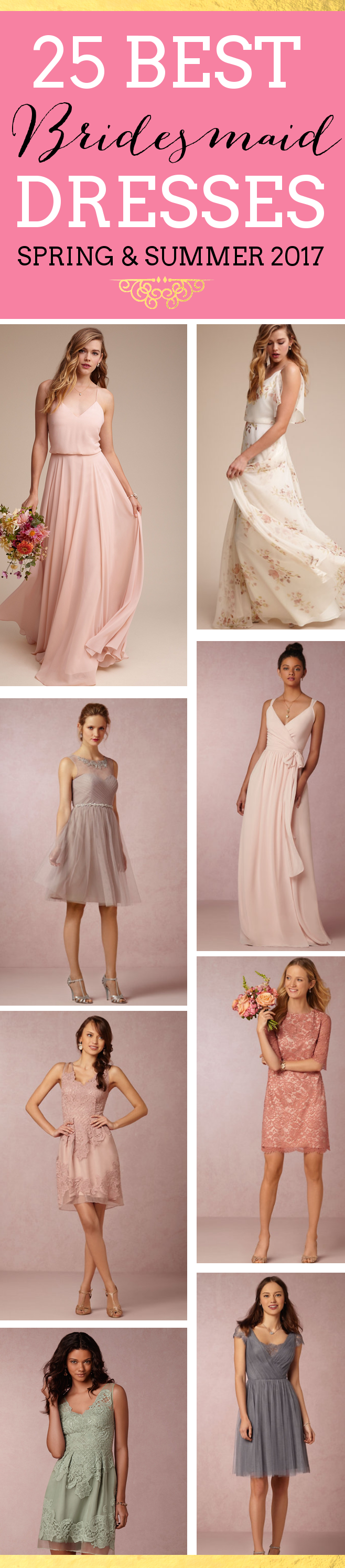 25 Best Bridesmaid Dresses for Spring Weddings - 2017
