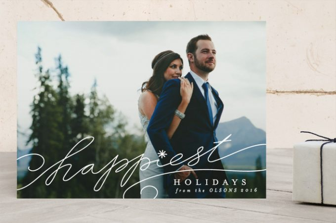 Holiday Cards for Newlyweds from Minted: http://bit.ly/2gd7lZQ